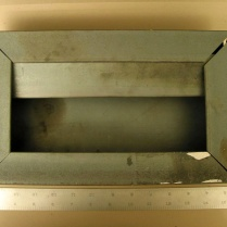 This FBI model of the bomb box shows its construction out of angle iron. ERIE TIMES-NEWS/FBI