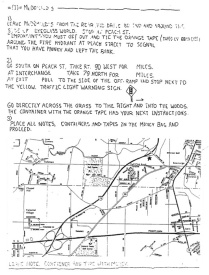 The note Wells found taped to the rock. It told him where to drive next to find clues and keys to unlock the collar and disarm the bomb. ERIE TIMES-NEWS, via FBI