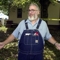 Bill Rothstein on September 23, 2003, in front of Marjorie Diehl-Armstrong's house, where a month earlier she shot and killed Jim Roden, her live-in boyfriend. Rothstein, who had helped remove Roden's body from the house in a tarp, helped Erie police go through the house after they discovered Roden's body in Rothstein's freezer on September 21, 2003. RICH FORSGREN/ERIE TIMES-NEWS